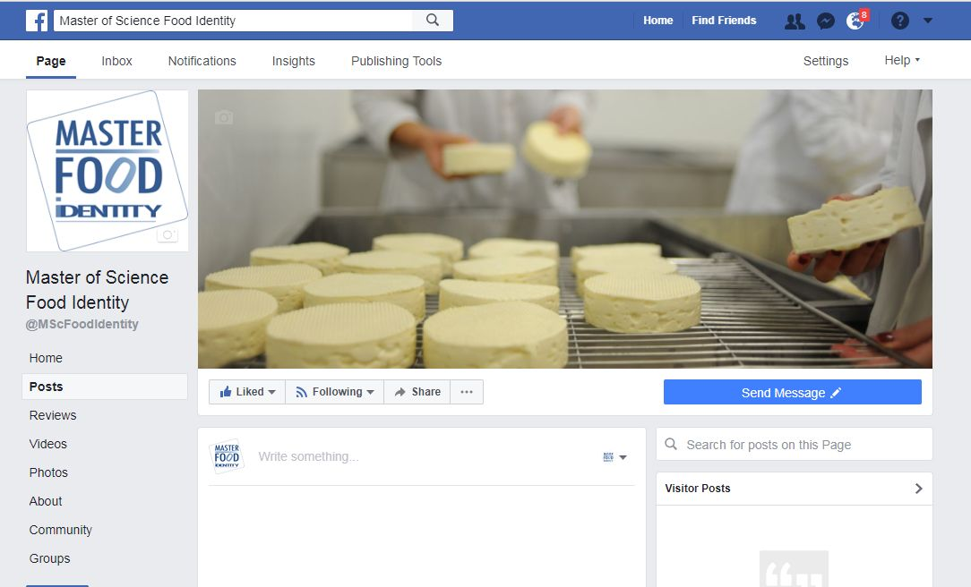 The official Facebook page of the MSc Food Identity is